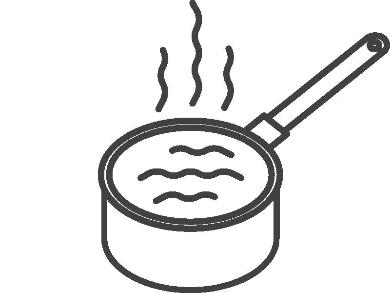 Zagrej mleko do 90°C